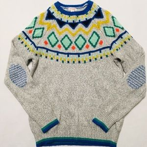 5/$25 NEW Cat & Jack elbow patch sweater L 12 14